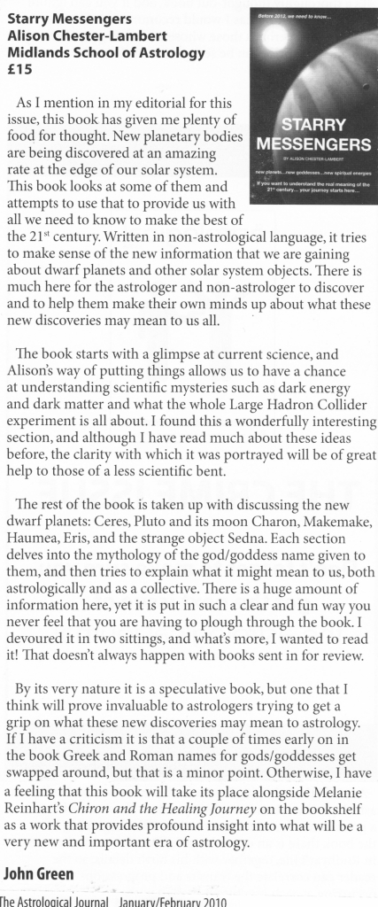Review from Astrological Journal