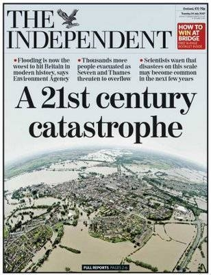 Front page of The Independent 24th July 2007